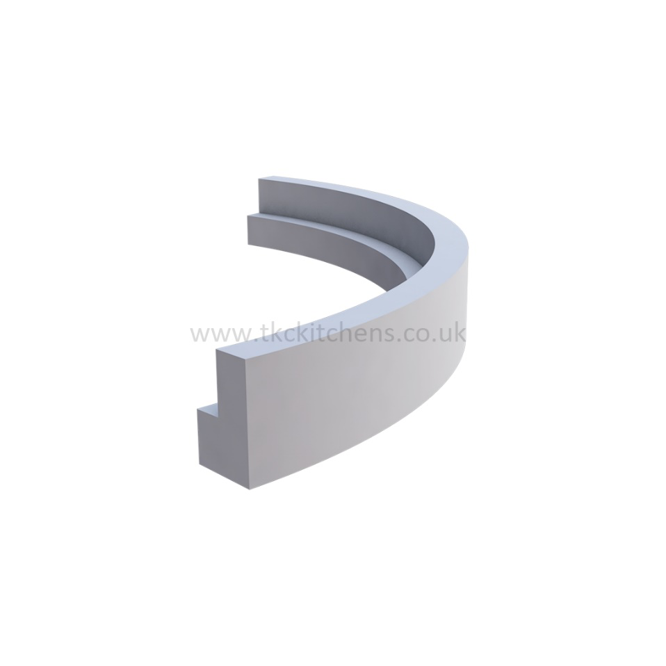CURVED PELMET FOR CURVED WALL UNITS