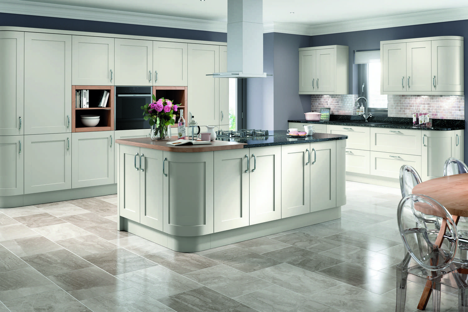 Fitted Classic new Kitchens in light grey TKC-kitchen pic