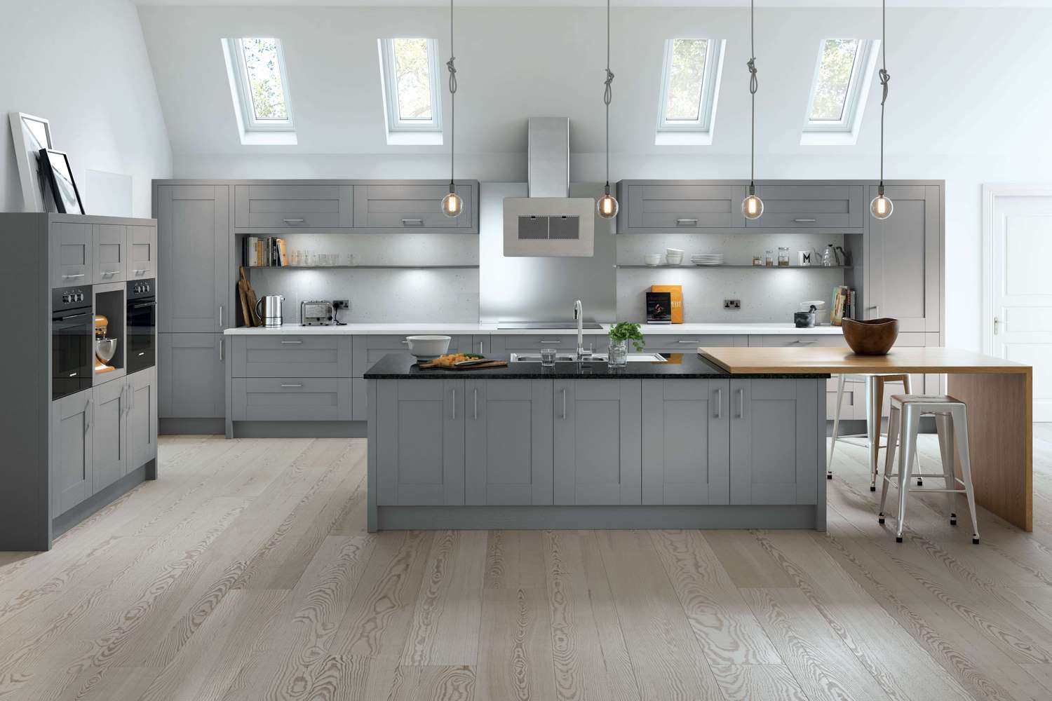 New Traditional fitted Kitchens in dust grey TKC-kitchen pic