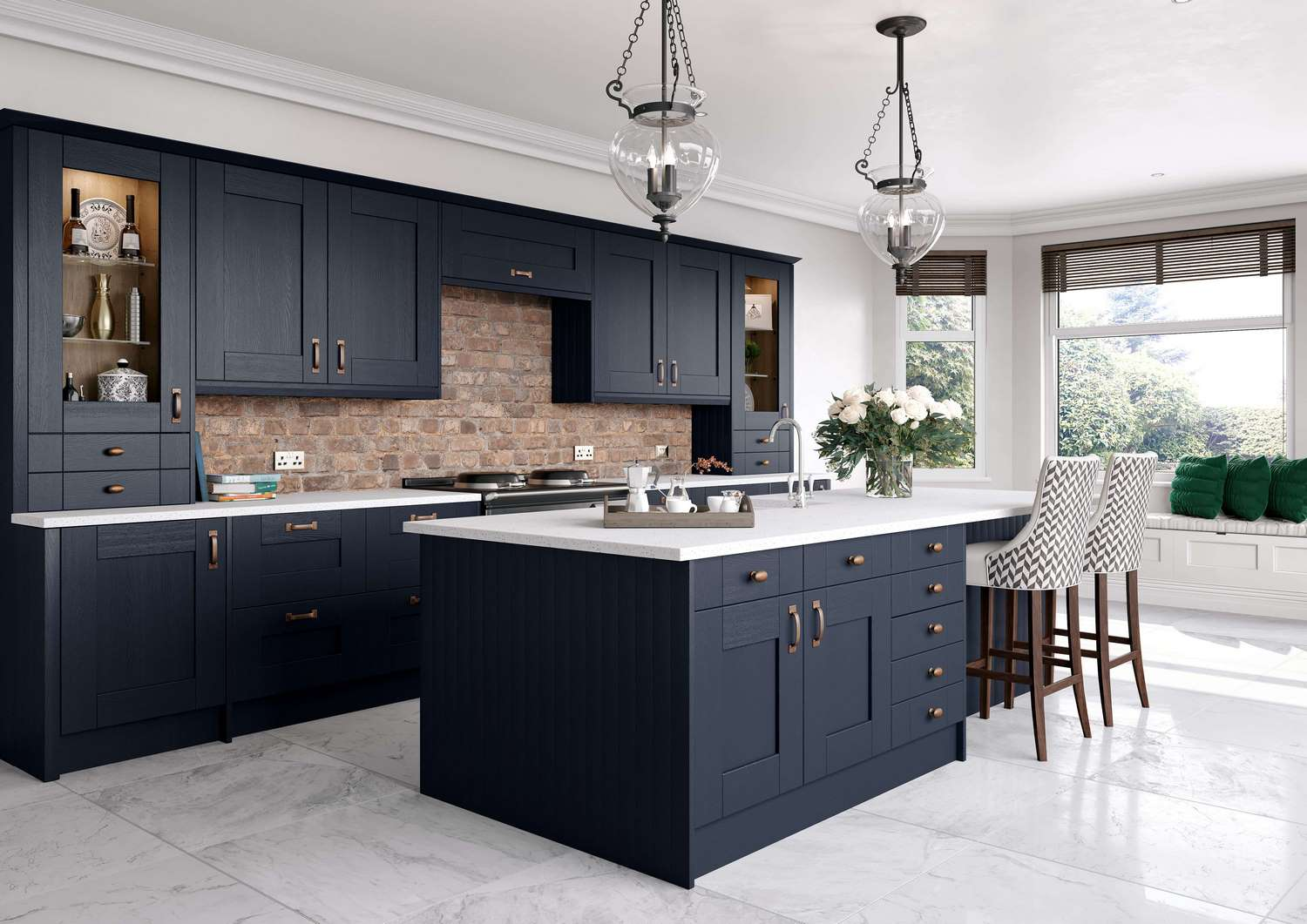 New Traditional fitted Kitchens in indigo 1 TKC-kitchen pic