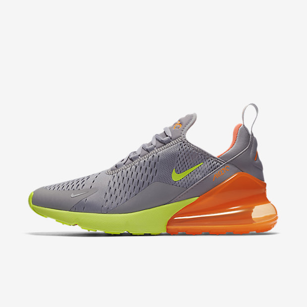 Air Max 270 Grey Volt Orange