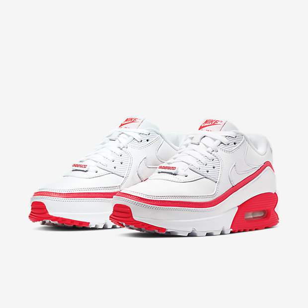 Air Max 90 Undefeated White Solar Red [4]