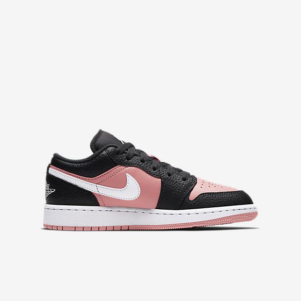 Air Jordan 1 Low Black Pink Quartz (GSサイズ) [2]