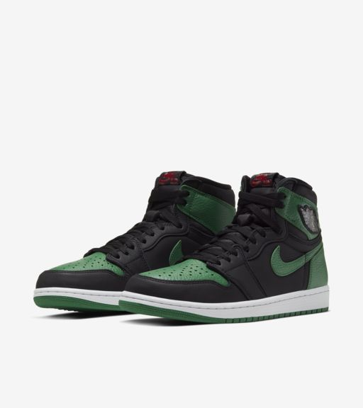 Air Jordan 1 Black/Pine Green [4]