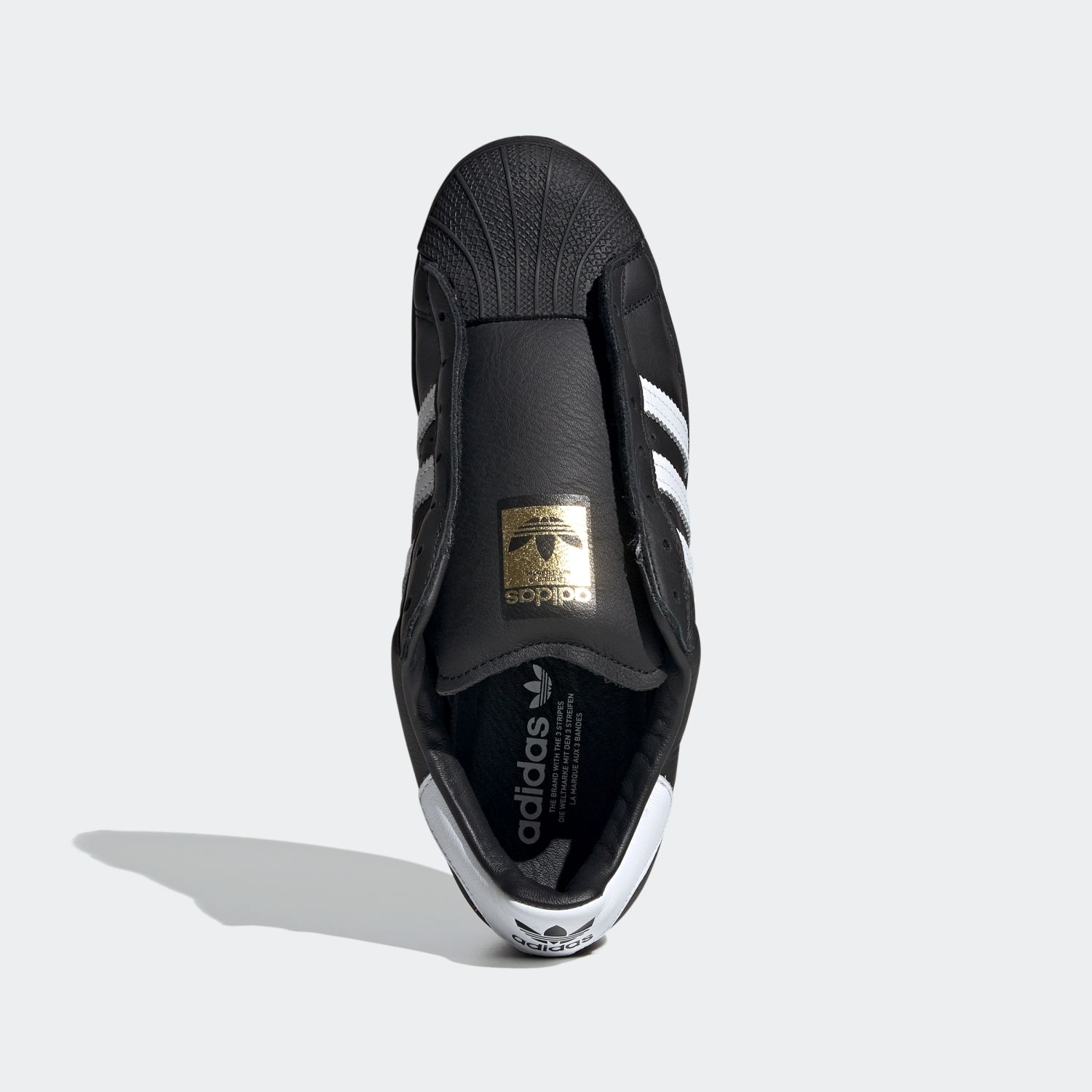 SUPERSTAR x Adidas Laceless Black White [3]