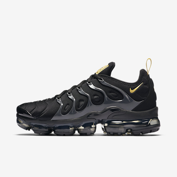 Air VaporMax Plus Black Metallic Gold Anthracite