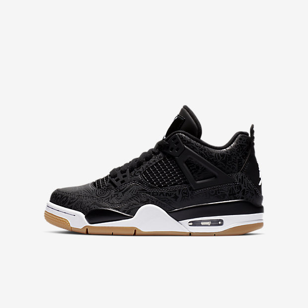 Air Jordan 4 Retro Laser Black Gum (GSサイズ)
