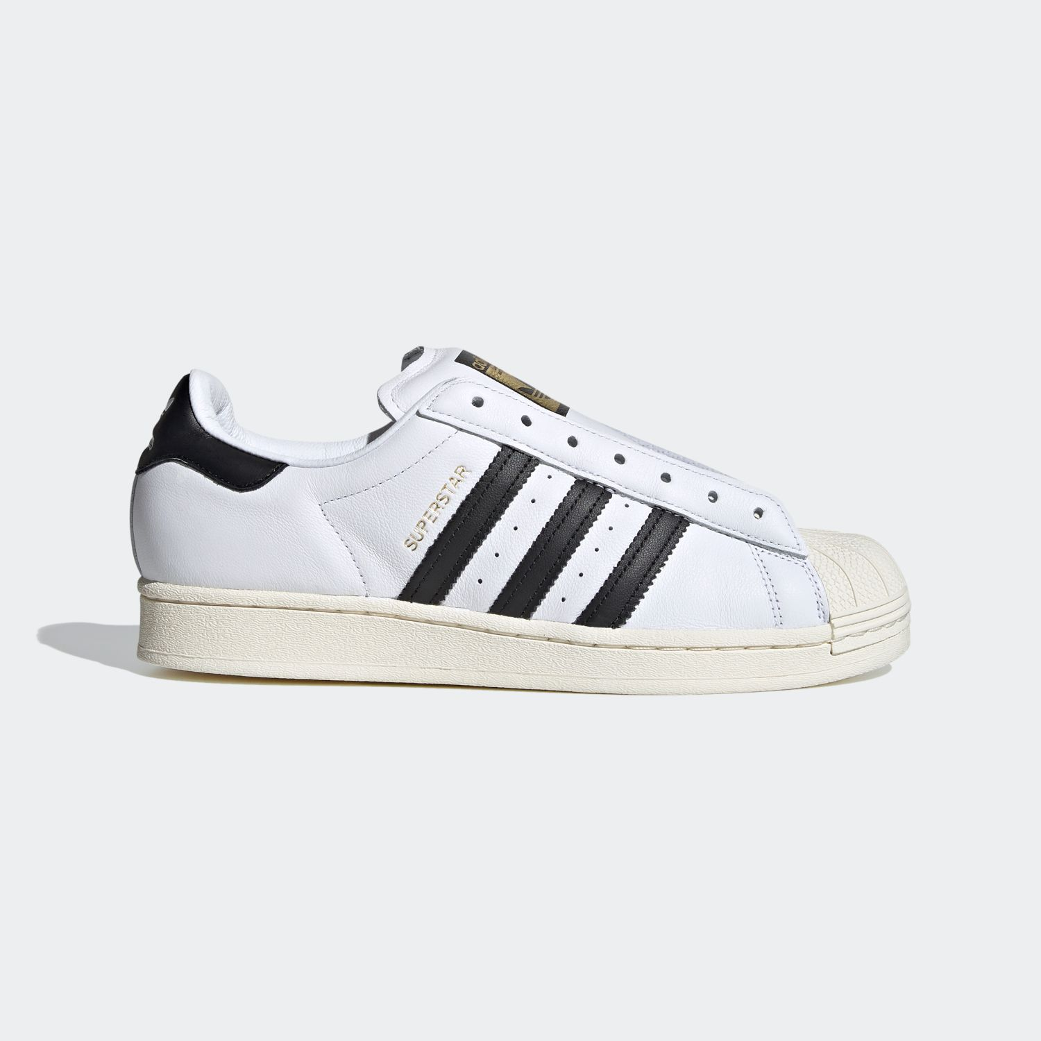 SUPERSTAR x Adidas Laceless White Black [1]