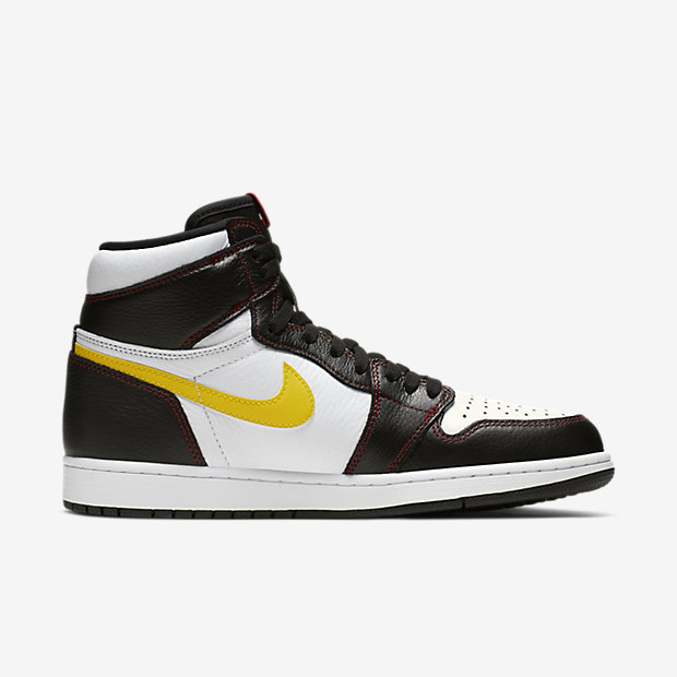 Air Jordan 1 Retro High Defiant White Black Gym Red [2]