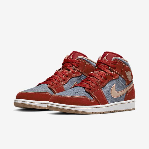Air Jordan 1 Mid Denim Red [4]