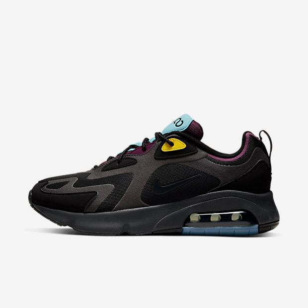 Air Max 200 Black Bordeaux