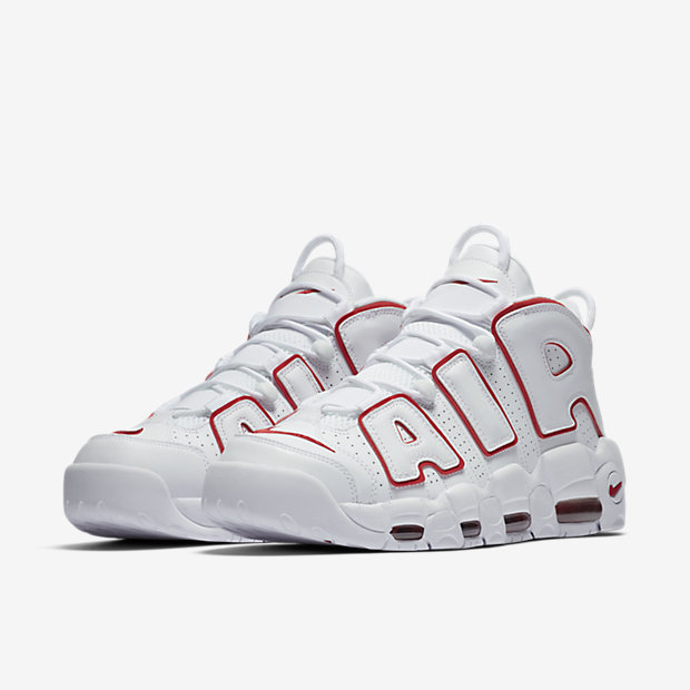Air More Uptempo White Varsity Red Outline(モアテン) [4]
