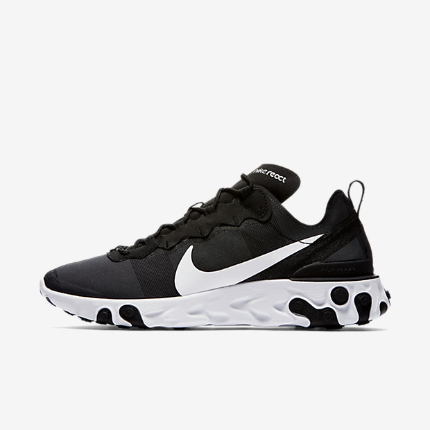 React Element 55 Black White
