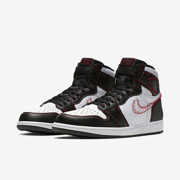 Air Jordan 1 Retro High Defiant White Black Gym Red [4]