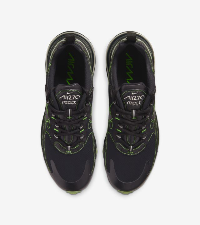 Air Max 270 React  Black/Electric Green [3]