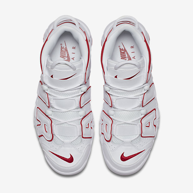 Air More Uptempo White Varsity Red Outline(モアテン) [3]