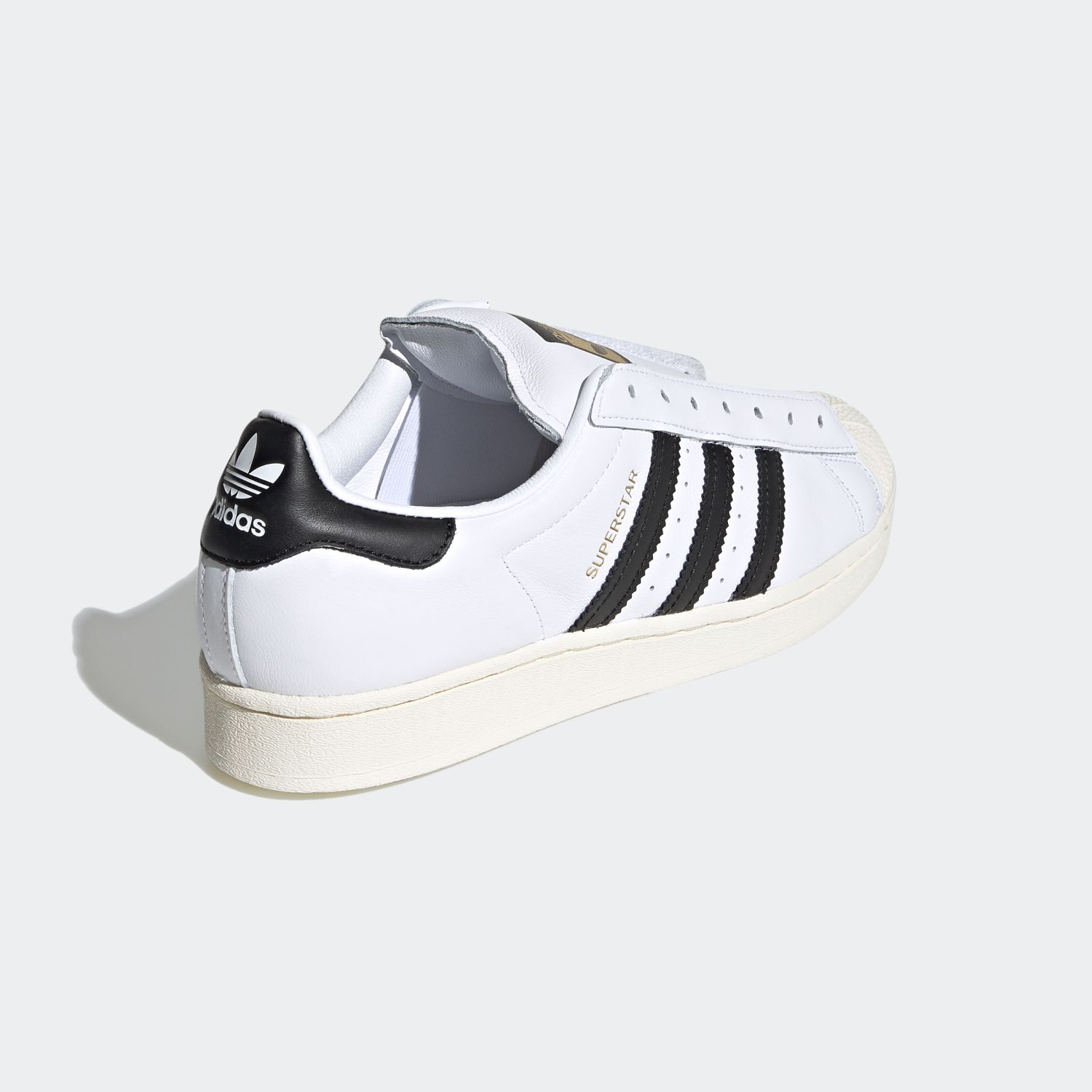 SUPERSTAR x Adidas Laceless White Black [5]