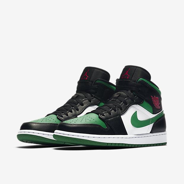 Air Jordan 1 Mid Green Toe [4]