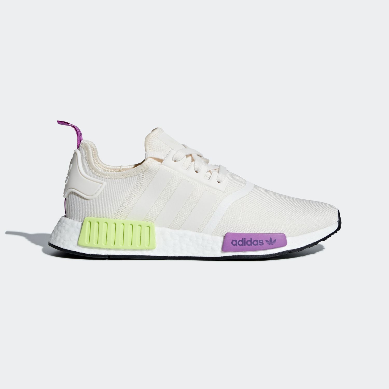 NMD R1 Chalk White Semi Solar Yellow