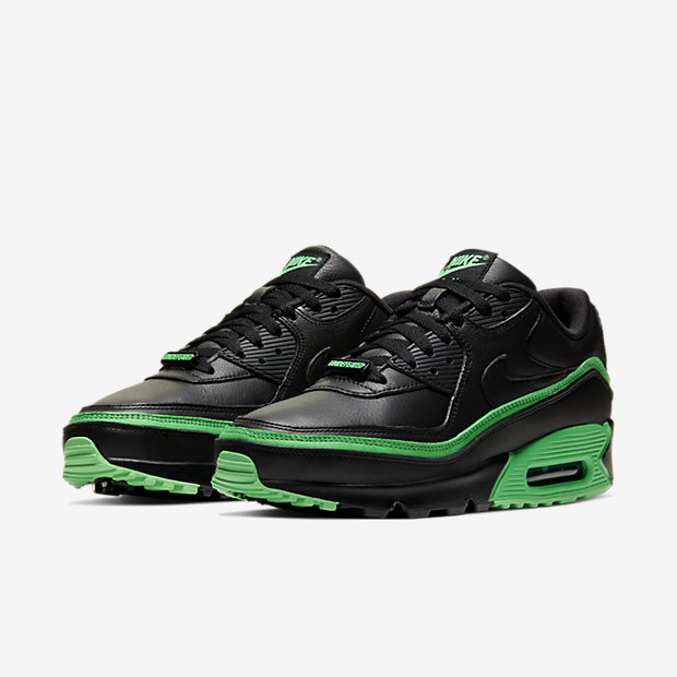 Air Max 90 Undefeated Black Green [4]