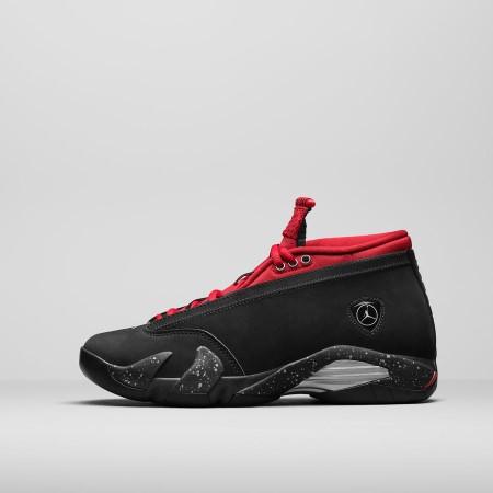 Air Jordan 14 Low Black / Gym Red (ウィメンズ)