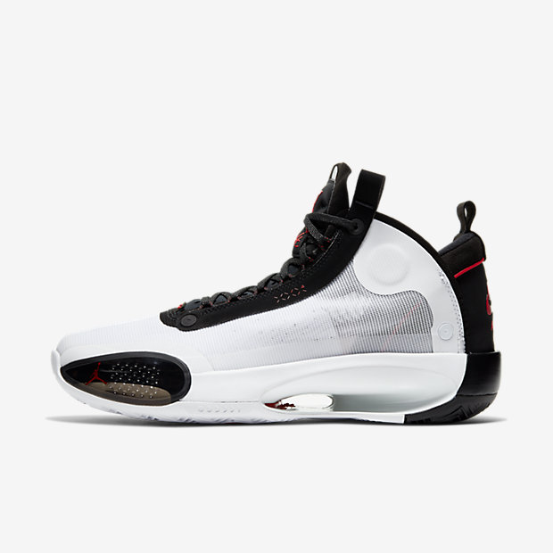 Air Jordan XXXIV White Black Red