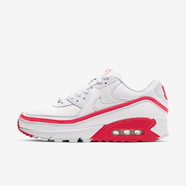 Air Max 90 Undefeated White Solar Red [1]