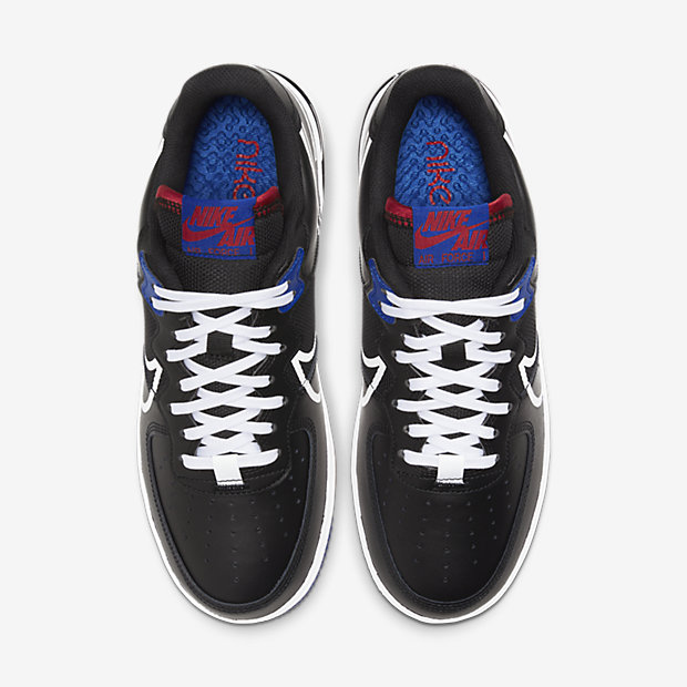 Air Force 1 Low React Black White Gym Red Gym Blue [3]