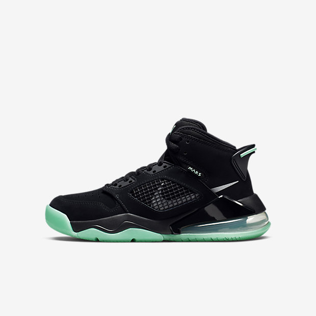 Jordan Mars 270 Black Green Glow (GSサイズ)