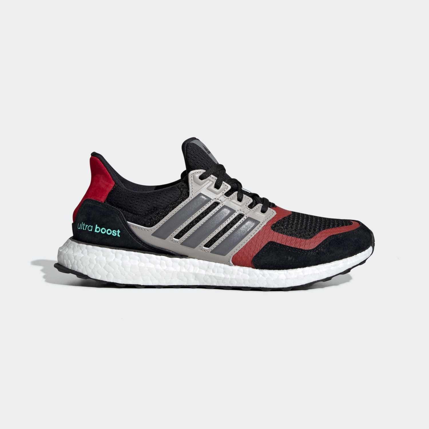Ultra Boost S&L Black Grey Power Red