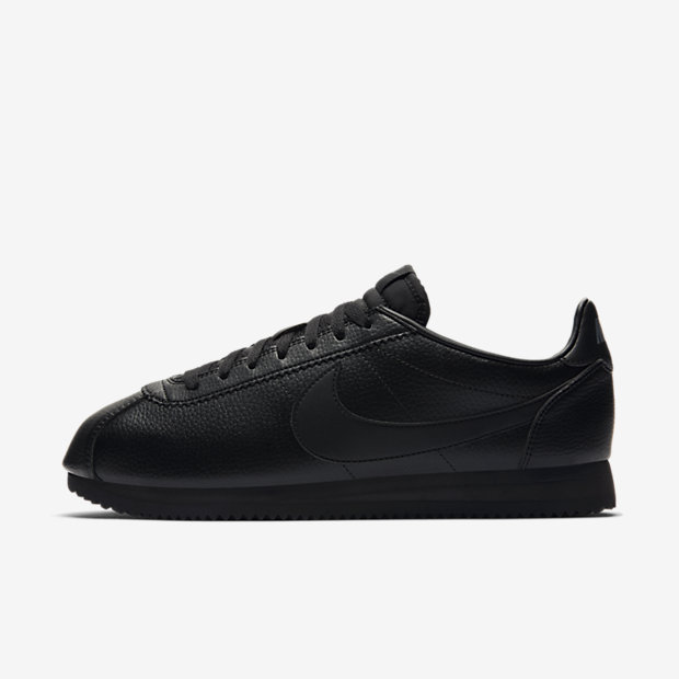 Classic Cortez Leather Triple Black