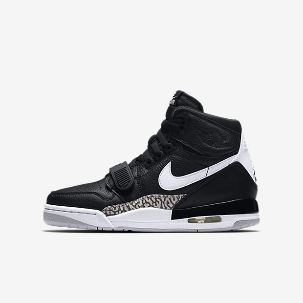 Jordan Legacy 312 Black White (GSサイズ)