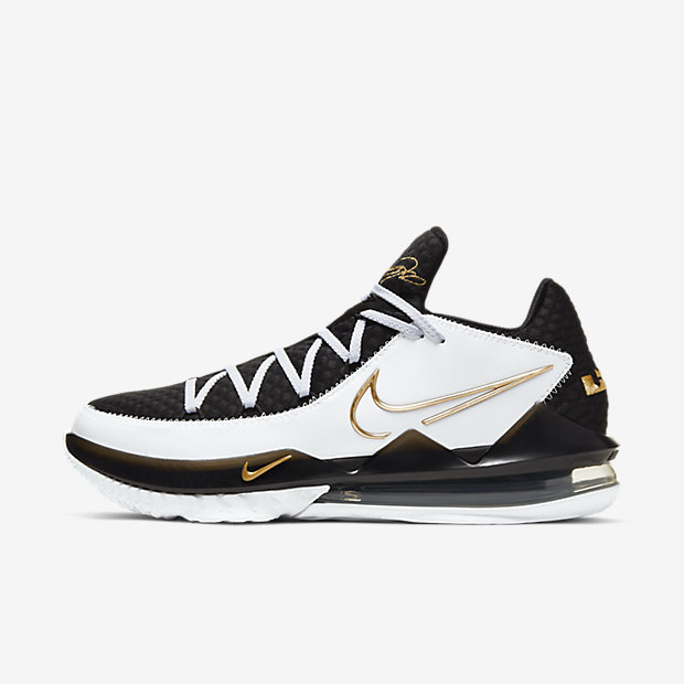 LeBron 17 Low White Metallic Gold [1]