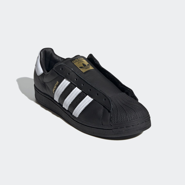 SUPERSTAR x Adidas Laceless Black White [4]