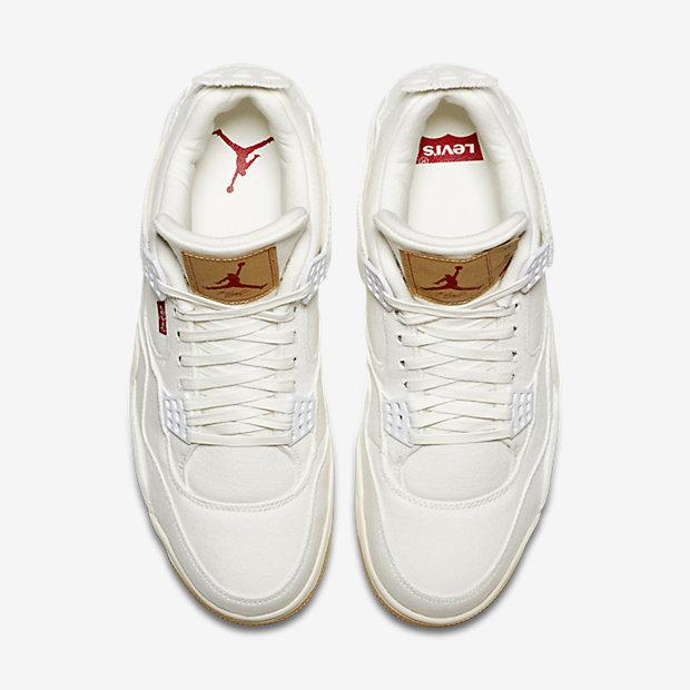 Air Jordan 4 Retro Levi's White (Levi's Tag) [3]