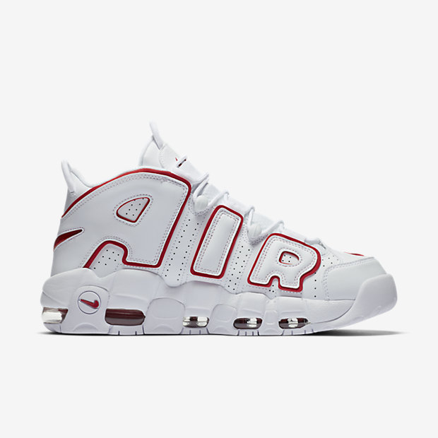 Air More Uptempo White Varsity Red Outline(モアテン) [2]