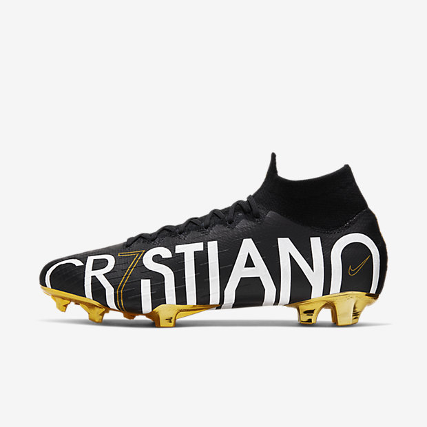 Mercurial Superfly 6 Elite CR7 FG Cristiano Ronaldo Black Gold
