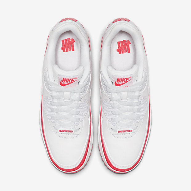 Air Max 90 Undefeated White Solar Red [3]