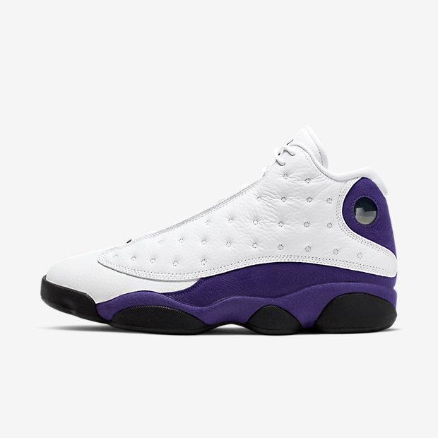 Air Jordan 13 White Court Purple