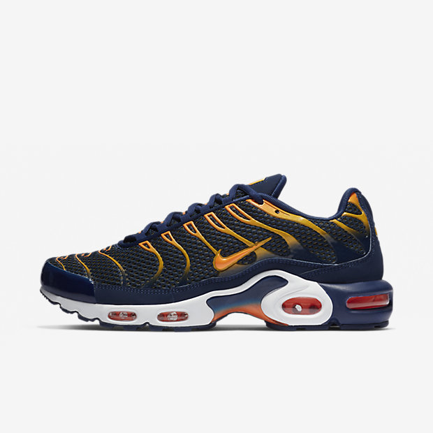Air Max Plus Blue Void University Gold