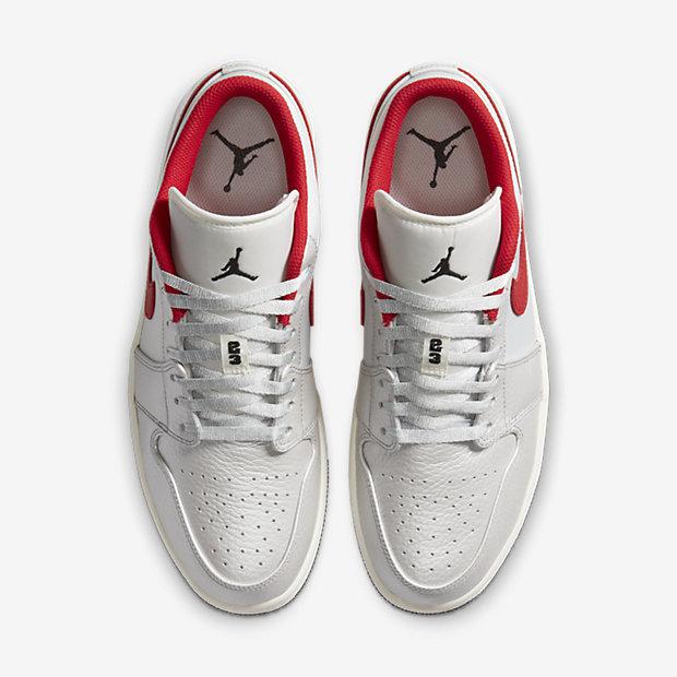 Air Jordan 1 Low White And Red [3]