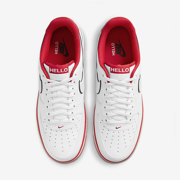 "Air Force 1 Low ""HELLO"" White/University Red [3]"