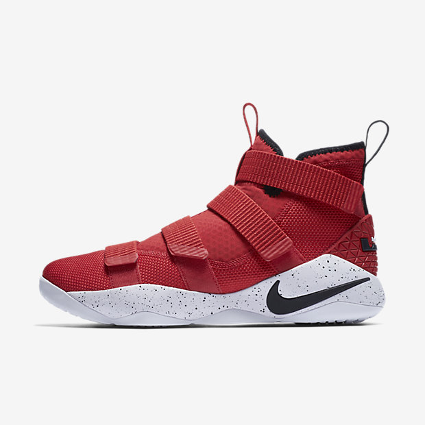 LeBron Zoom Soldier 11 University Red White