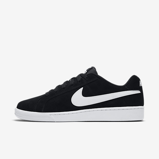 Court Royale Suede Black White