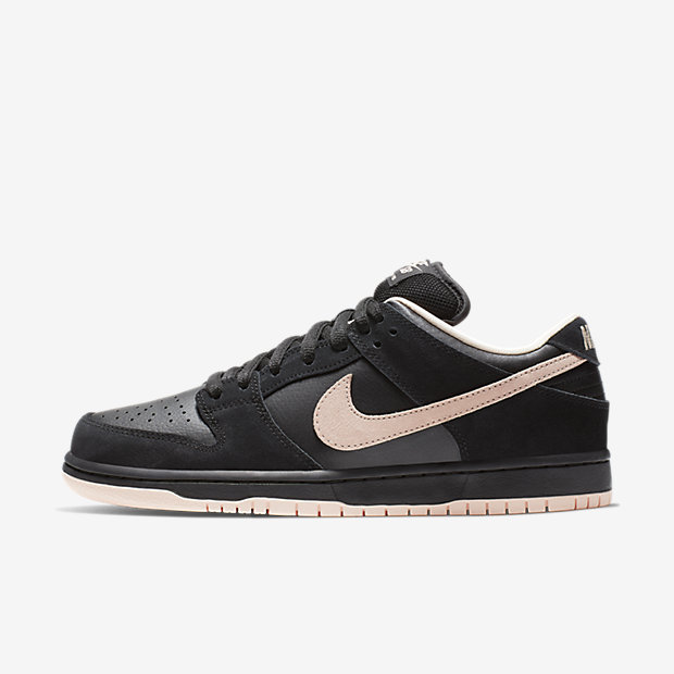 SB Dunk Low Black Washed Coral