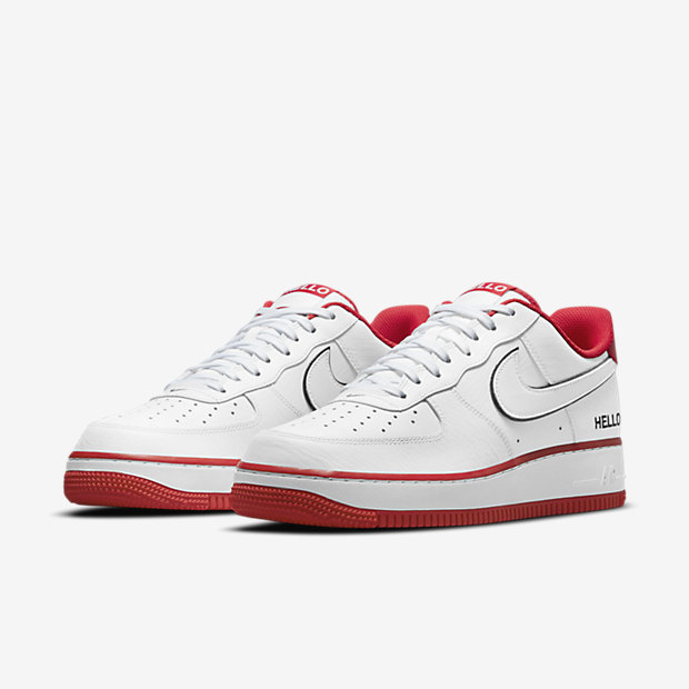 "Air Force 1 Low ""HELLO"" White/University Red [4]"