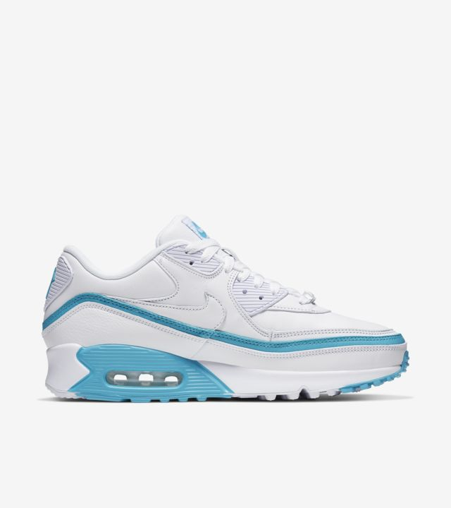 Air Max 90 Undefeated White Blue Fury [2]