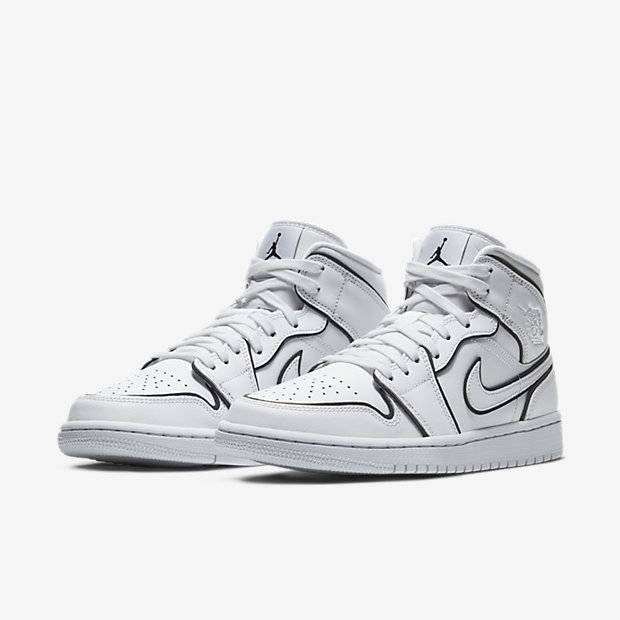 Air Jordan 1 Mid White / Black (ウィメンズ) [4]