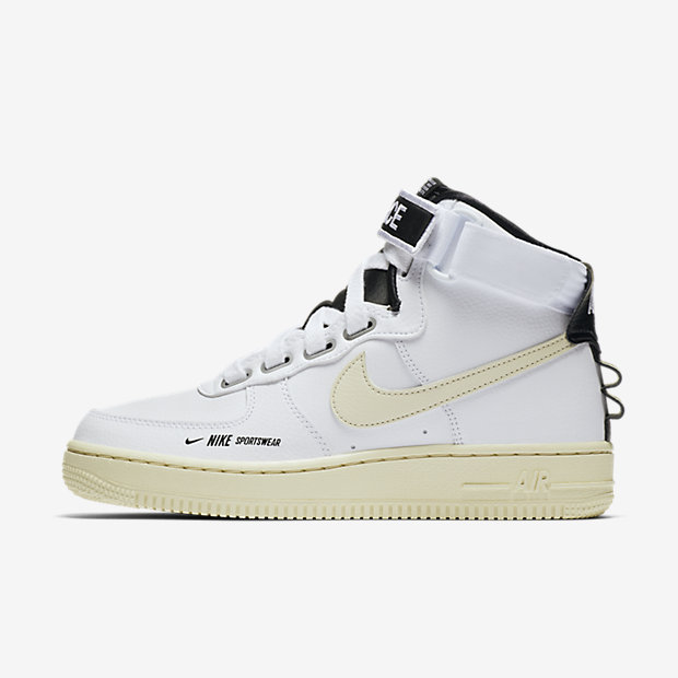 Air Force 1 High Utility White Light Cream (ウィメンズ)