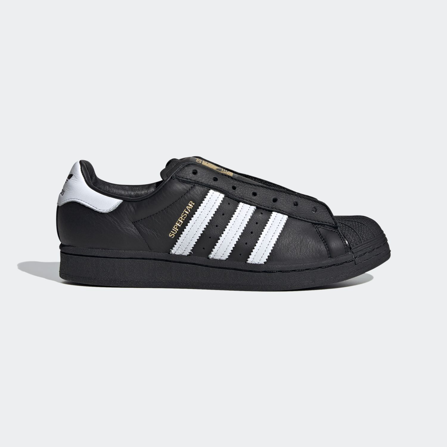 SUPERSTAR x Adidas Laceless Black White [1]